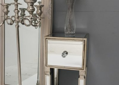 Mirrored bedside table or nightstand