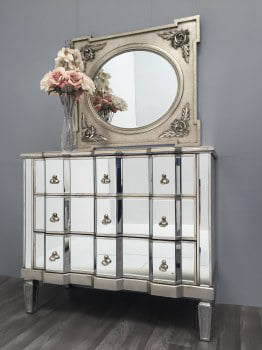 Vintage Mirrored Chest 3 drawers