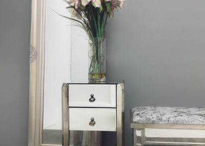 Art Deco mirrored bedside chest