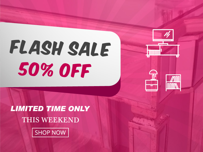 Flash Sale! 50% OFF on mirrored furniture selected items