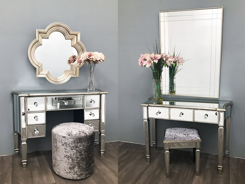 Mirrored dressing table with drawers: Ideal for Valentine's Day, Weddings & Other Occasions