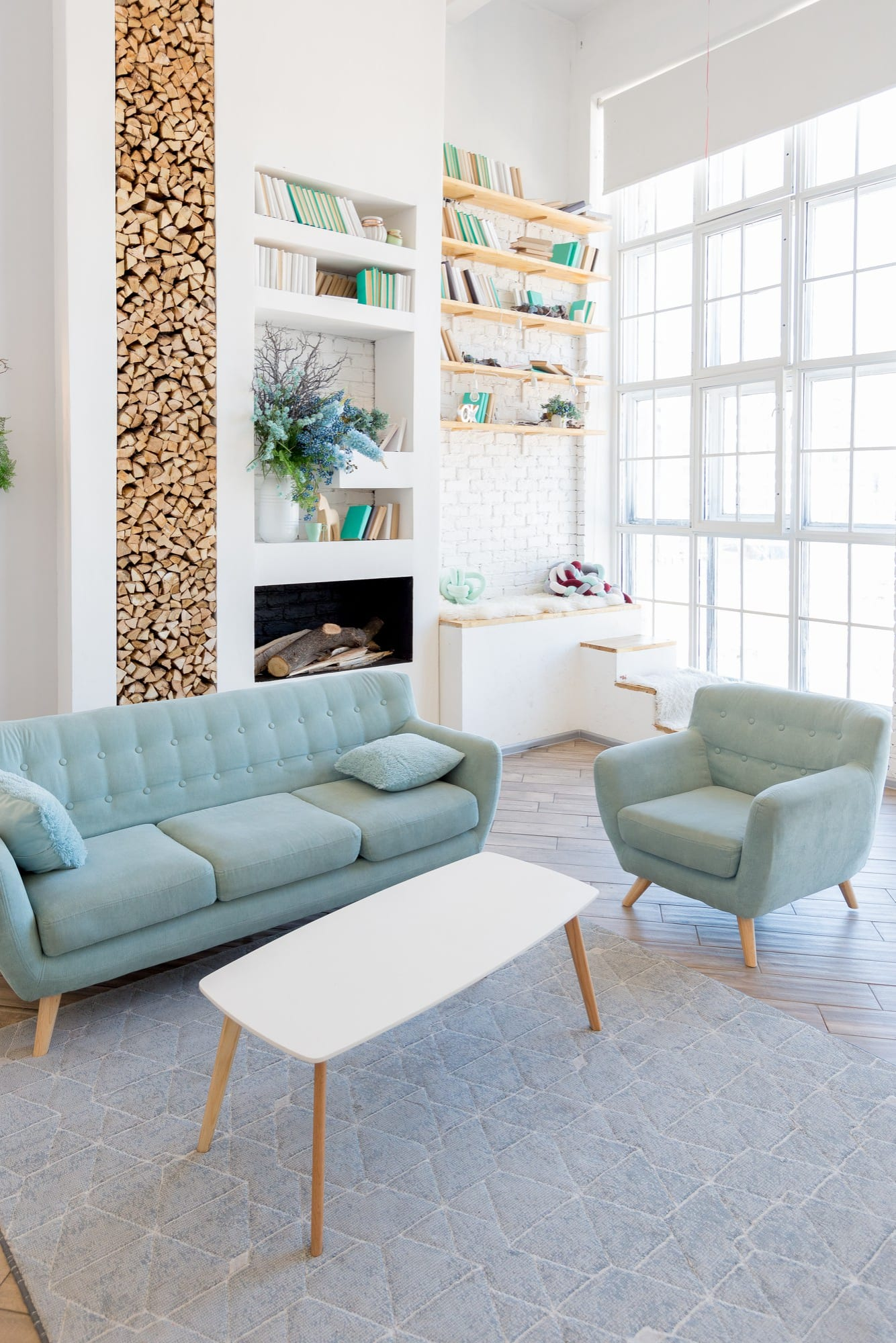Carnaby Mid Century natural materials